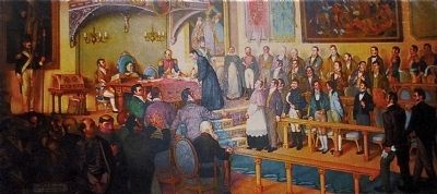 <i>La firma del Acta de Independencia de Centroam�rica </i> (Signing of the Act of Independence). image. Click for full size.