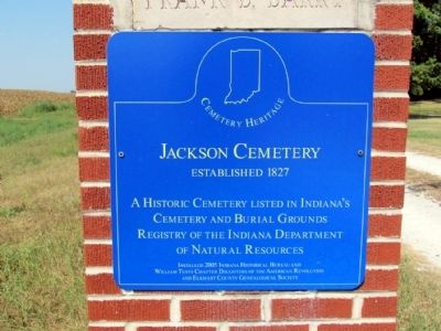 Jackson Cemetery Marker image. Click for full size.