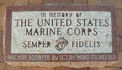 The United States Marine Corps Marker image. Click for full size.