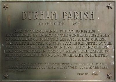 Durham Parish Marker image. Click for full size.