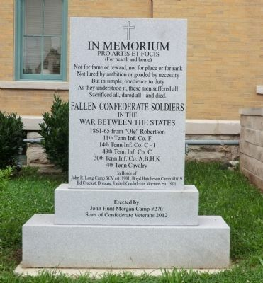 Fallen Confederate Soldiers Marker image. Click for full size.