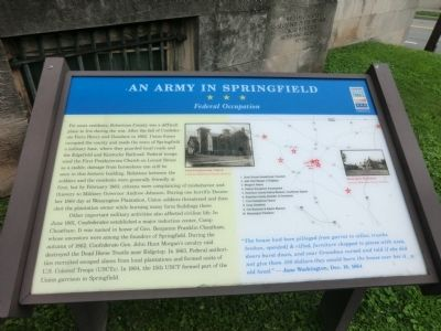 An Army In Springfield Marker image. Click for full size.