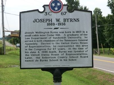 Joseph W. Byrns Marker image. Click for full size.