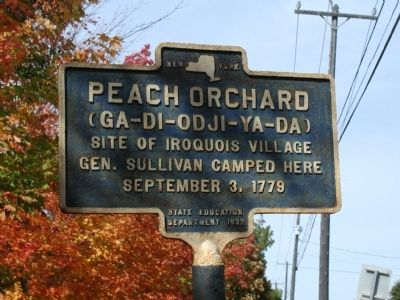 Peach Orchard Marker image. Click for full size.