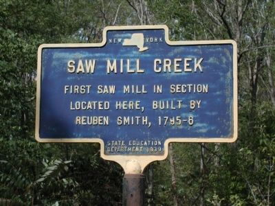 Saw Mill Creek Marker image. Click for full size.