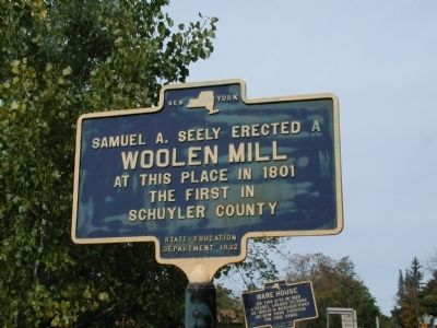 Woolen Mill Marker image. Click for full size.