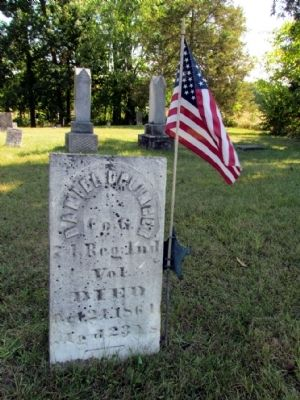 Grave Headstone of Daniel Uplinger image. Click for full size.