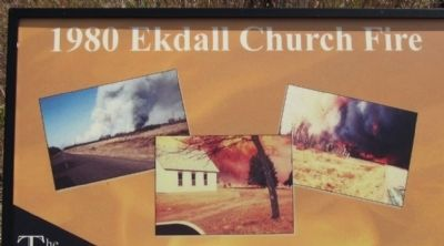 1980 Ekdall Church Fire Marker Photo, Click for full size