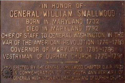 General Smallwood marker on the1932 Commemorative Wall image. Click for full size.