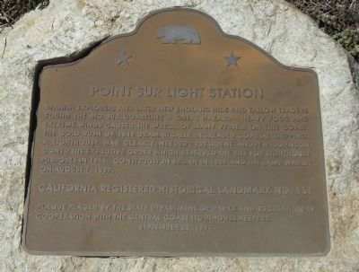 Point Sur Light Station Marker image. Click for full size.