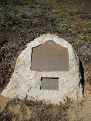 Point Sur Light Station Marker and National Register of Historic Places Plaque image. Click for full size.