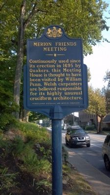 Merion Friends Meeting Marker image. Click for full size.