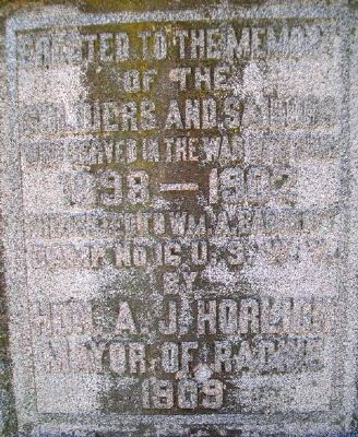 Spanish-American War Memorial Marker image. Click for full size.
