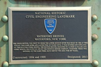 Waterford Bridges Marker image. Click for full size.