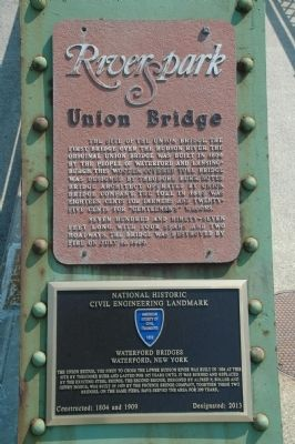 Waterford Bridges Marker & RiverSpark Marker image. Click for full size.