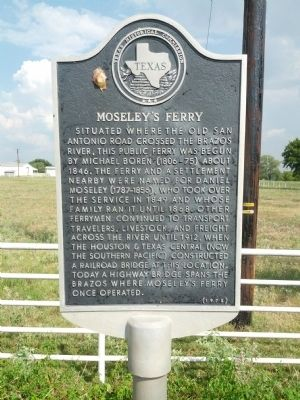 Moseley's Ferry Marker image. Click for full size.