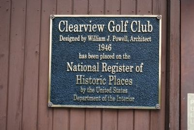 Clearview Golf Club Marker image. Click for full size.