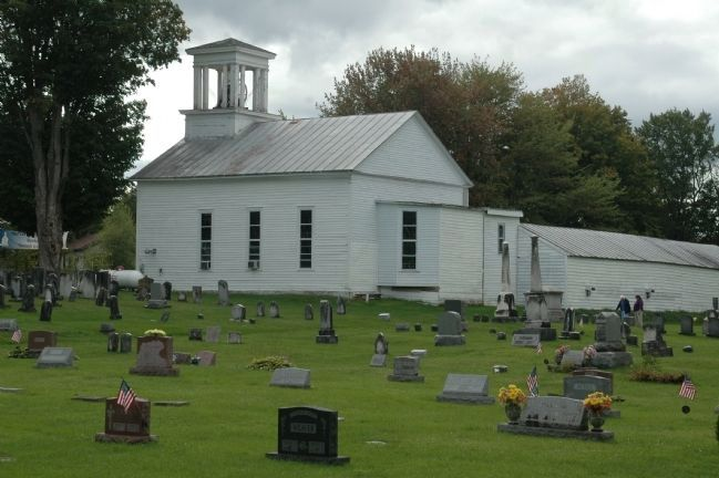 Christian Church & Cemetery image. Click for full size.