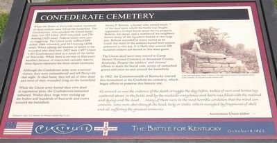 Confederate Cemetery Marker (new) image. Click for full size.