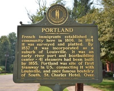 Portland Historical Marker image. Click for full size.