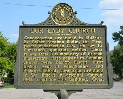 Our Lady Church Historical Marker image. Click for full size.