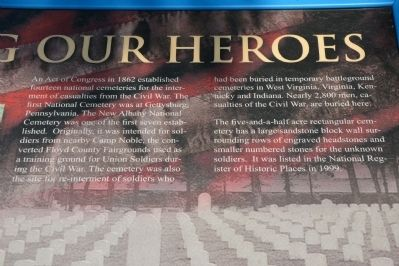 Honoring Our Heroes Marker image. Click for full size.
