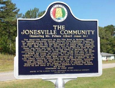The Jonesville Community Marker image. Click for full size.