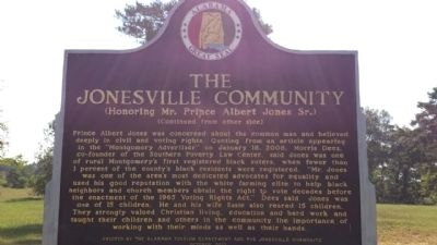The Jonesville Community Marker (reverse) image. Click for full size.