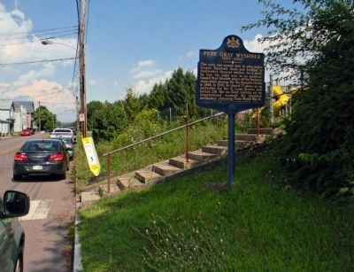 Wide view of the Pete Gray Wyshner Marker image. Click for full size.