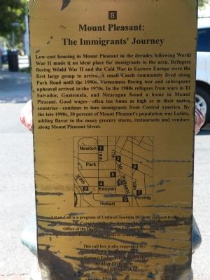 Mount Pleasant: The Immigrants' Journey Marker image. Click for full size.