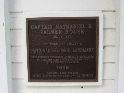 Captain Nathaniel B. Palmer House Marker image. Click for full size.