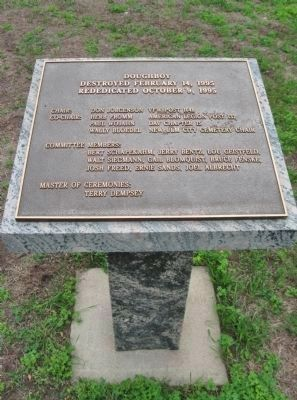 Doughboy Rededication Plaque image. Click for full size.
