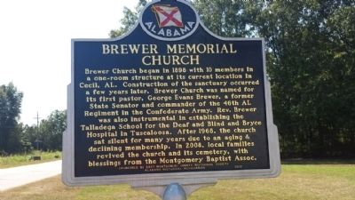 Brewer Memorial Church Marker image. Click for full size.