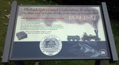 Philadelphia and Columbia Railway Marker image. Click for full size.