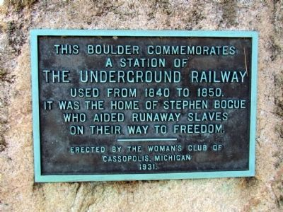 The Underground Railway Marker image. Click for full size.