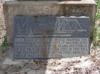 1923 Minnesota River Bridge Marker image. Click for full size.