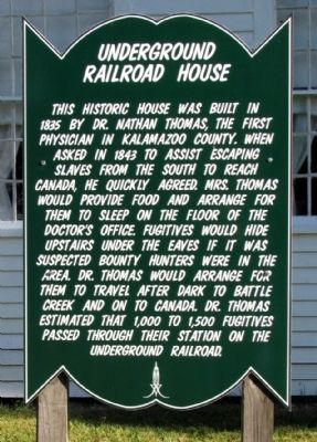 Underground Railroad House Marker image. Click for full size.