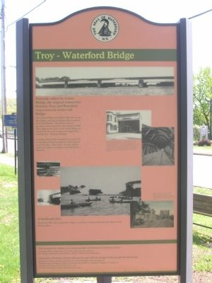 Troy Waterford Bridge Marker image. Click for full size.