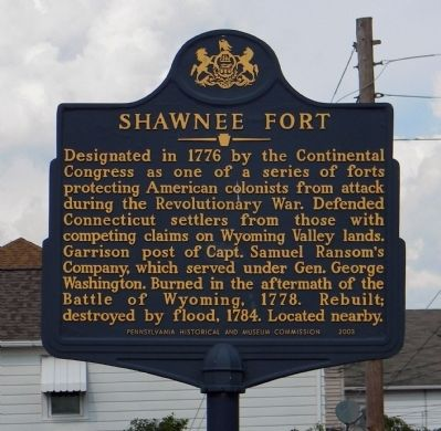 Shawnee Fort Marker image. Click for full size.