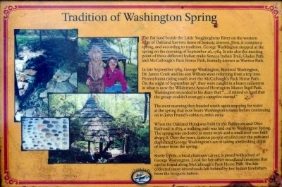 Tradition of Washington Spring Marker image. Click for full size.