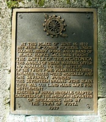 The Battle of the Pecatonica Marker image. Click for full size.