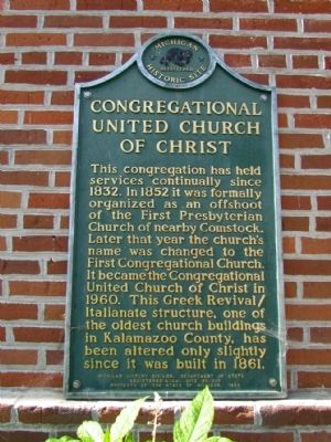Congregational United Church of Christ Marker image. Click for full size.