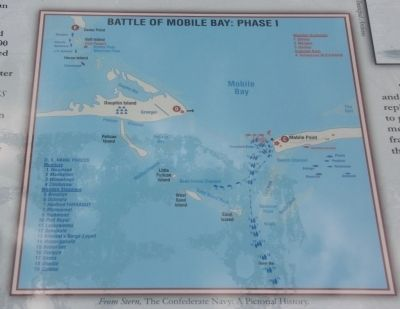 Center, Top Right Image: Battle Of Mobile Bay: Phase I image. Click for full size.