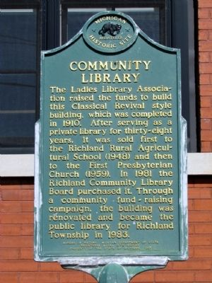 Community Library Marker image. Click for full size.
