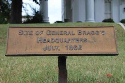 General Bragg's Headquarters Marker image. Click for full size.