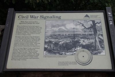 Civil War Signaling Marker image. Click for full size.