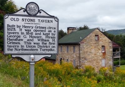 Marker & Old Stone Tavern image. Click for full size.