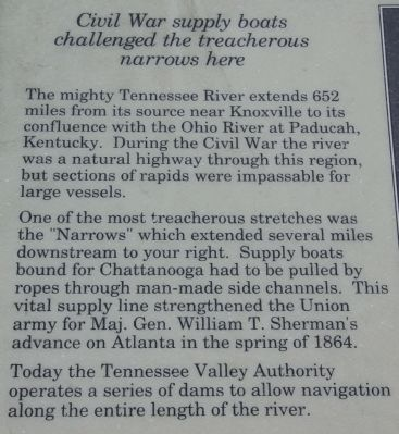 Boats on the Tennessee Marker image. Click for full size.