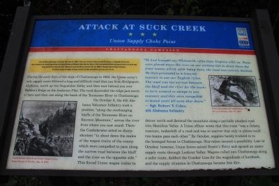 Attack at Suck Creek Marker image. Click for full size.