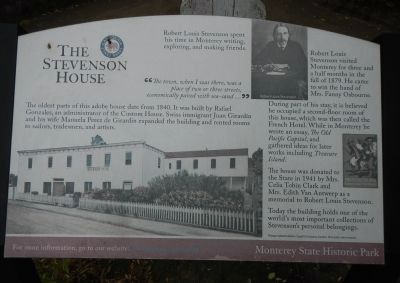 The Stevenson House Marker image. Click for full size.